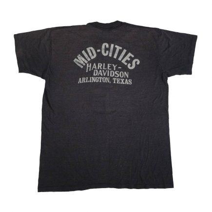 arlington texas mid cities vintage 70s 80s harley davidson t shirt back of shirt