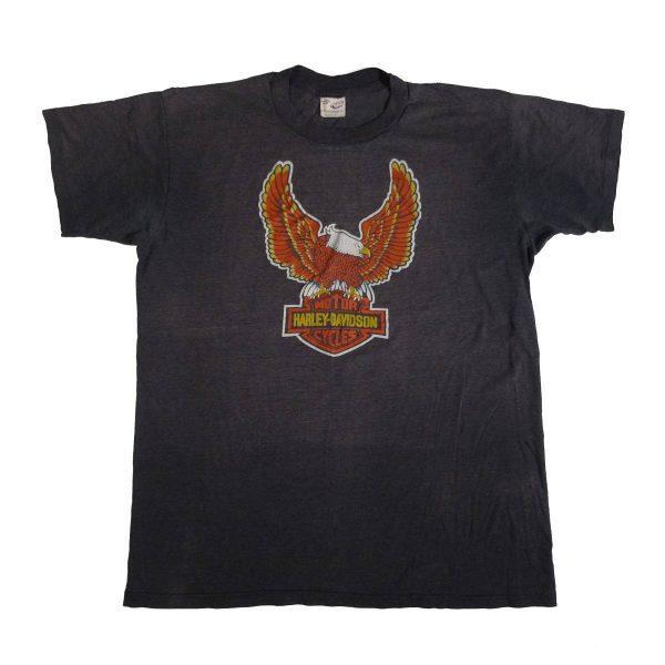 arlington texas mid cities vintage 70s 80s harley davidson t shirt front of shirt
