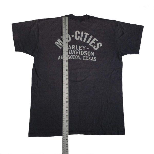 arlington texas mid cities vintage 70s 80s harley davidson t shirt length measurements