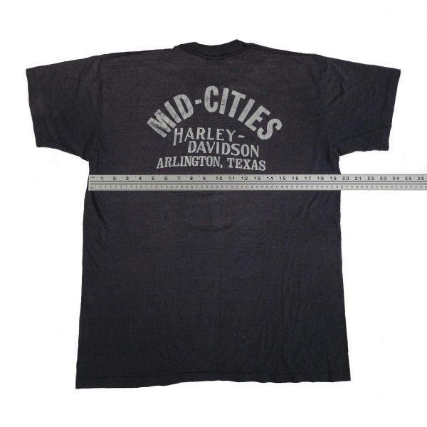 arlington texas mid cities vintage 70s 80s harley davidson t shirt width measurements