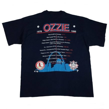 ozzie smith st louis cardinals vintage 90s t shirt back of shirt