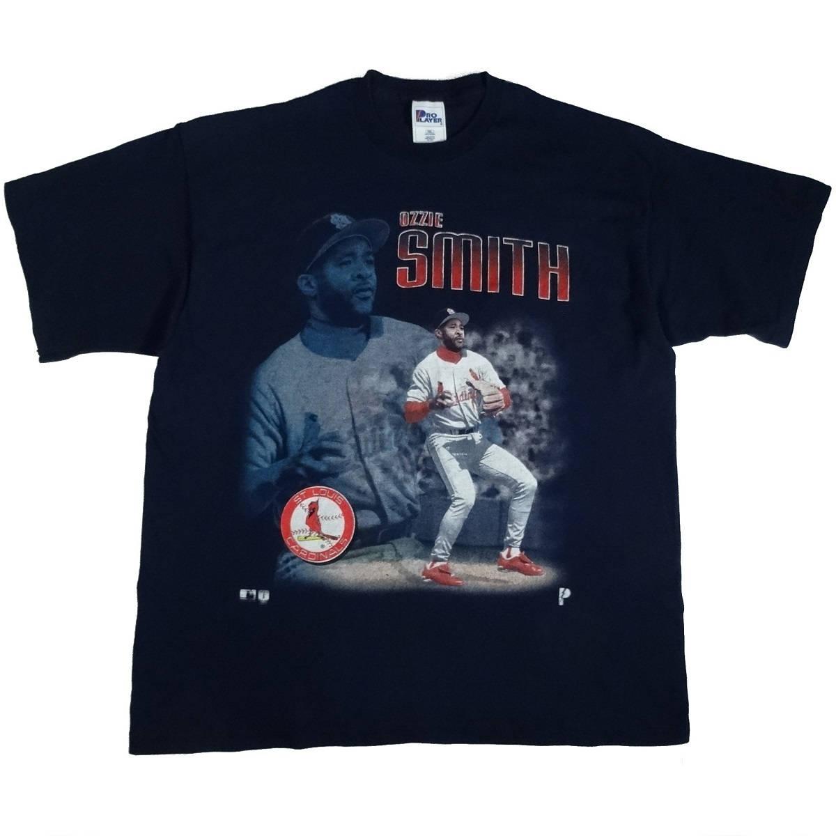 ozzie smith st louis cardinals vintage 90s t shirt front