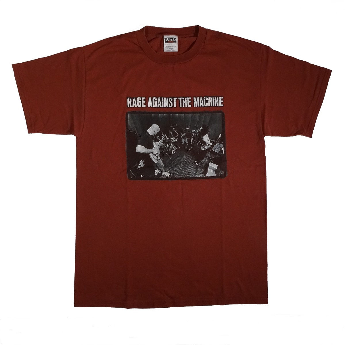 rage against the machine vintage 90s t shirt front of shirt