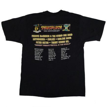 reggae sunsplash festival 1987 10th anniversary vintage t shirt back of shirt