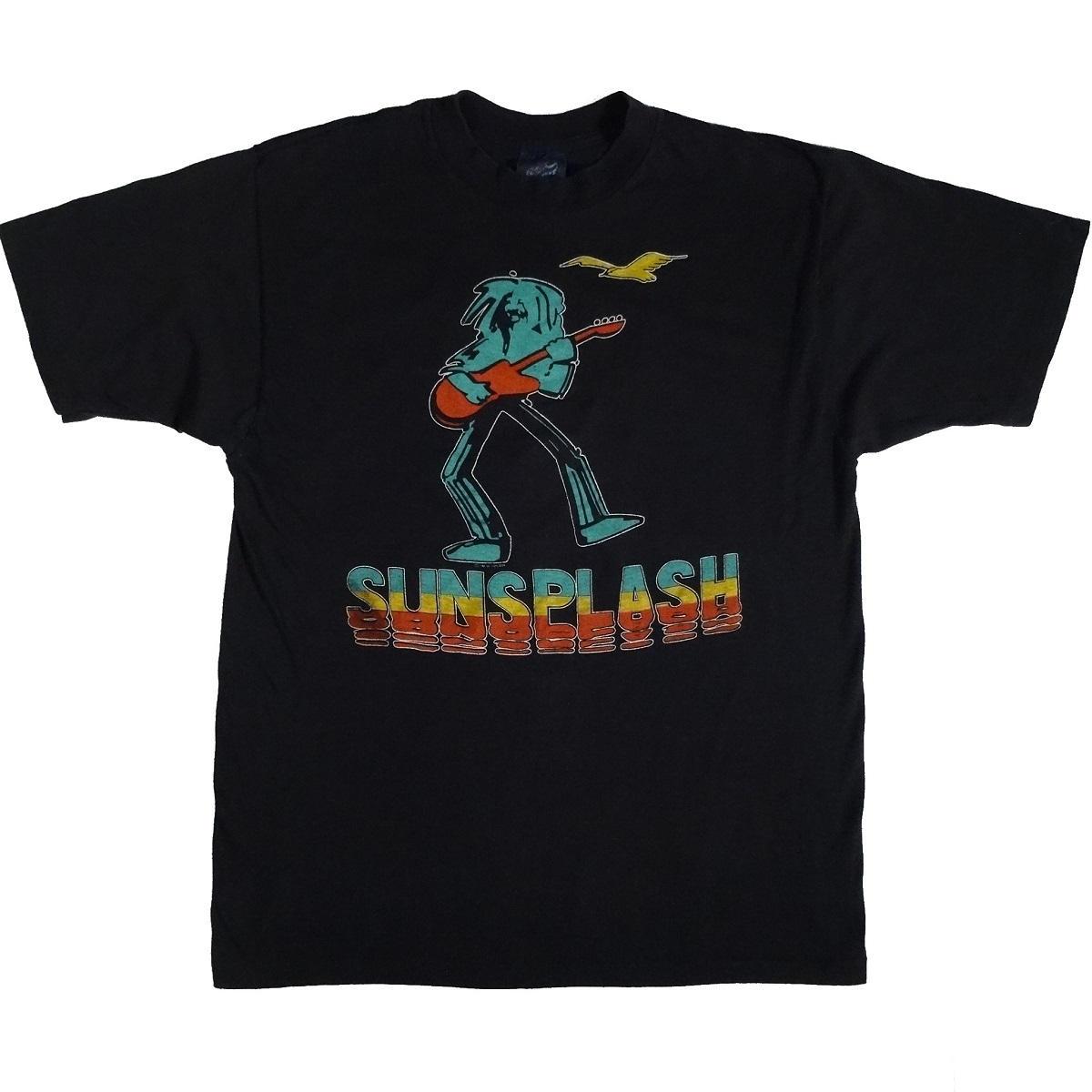 reggae sunsplash festival 1987 10th anniversary vintage t shirt front of shirt