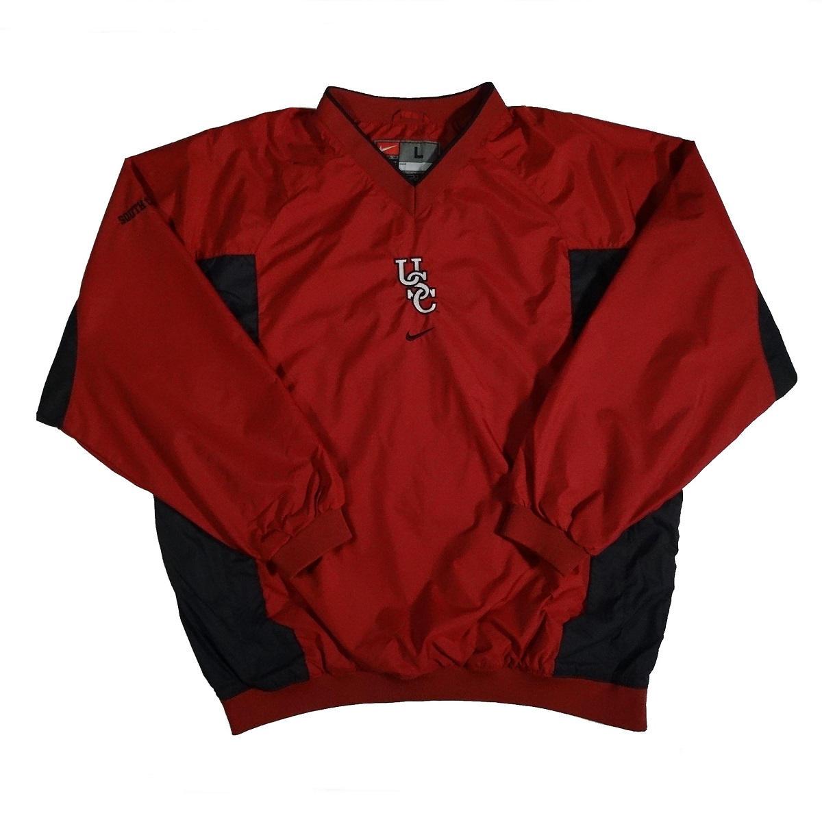 south carolina gamecocks vintage nike pullover jacket front of jacket