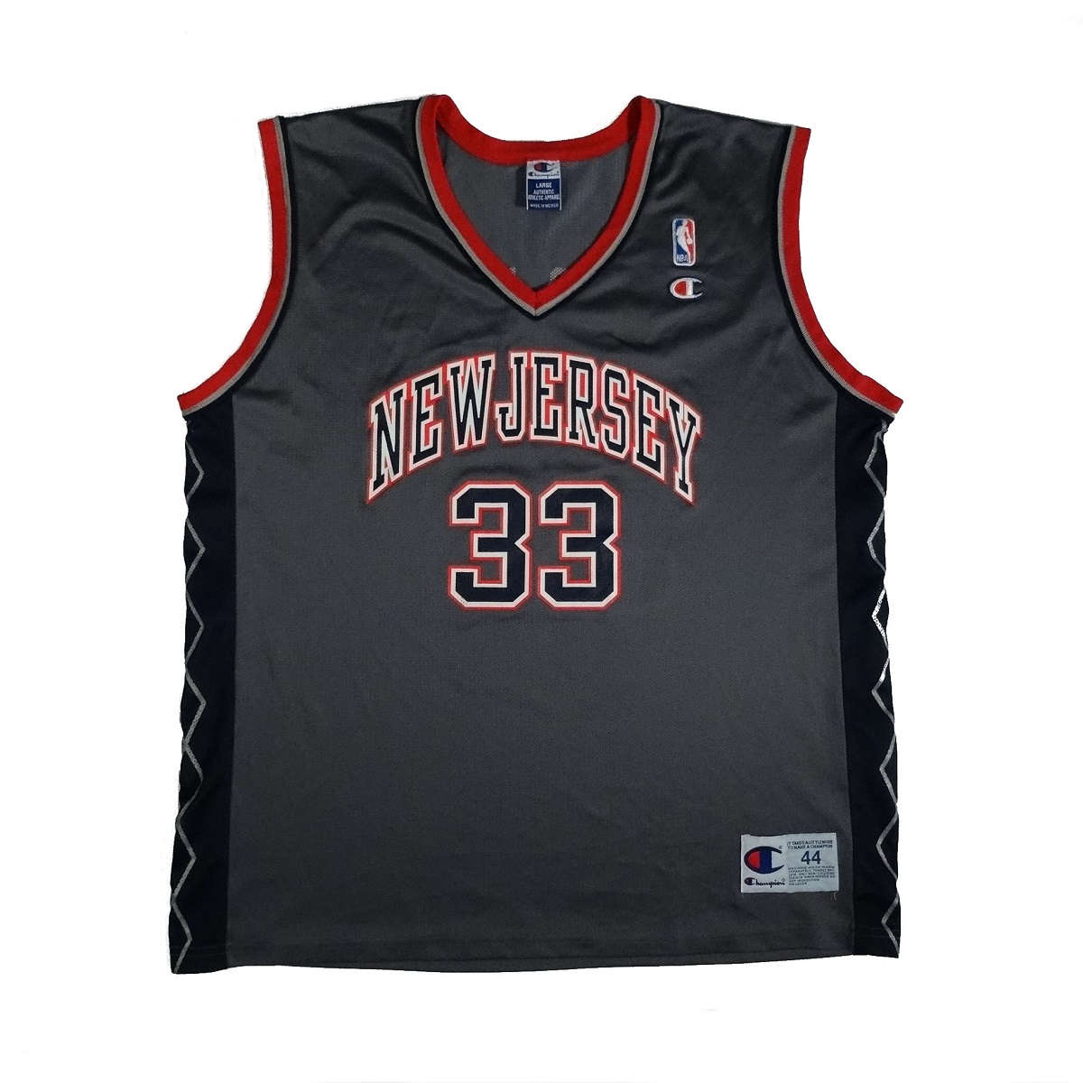 stephon marbury new jersey nets vintage champion jersey front side