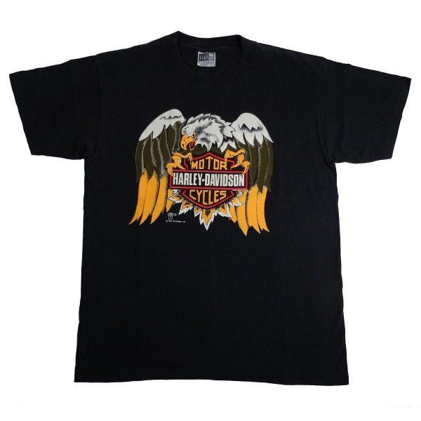 vintage 80s harley davidson eagle holoubek t shirt front