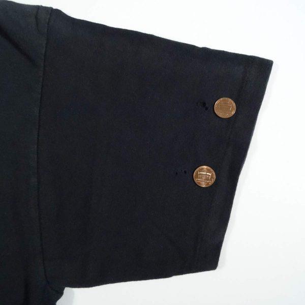 vintage 80s harley davidson eagle holoubek t shirt holes in left sleeve