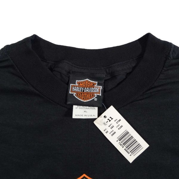 springer softail harley davidson vintage 90s t shirt collar size tag
