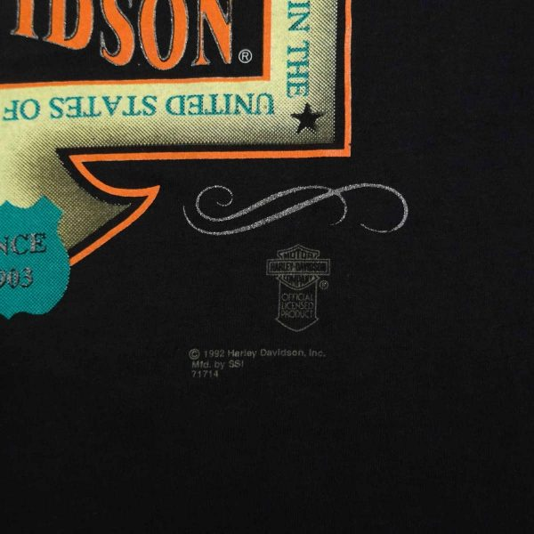 springer softail harley davidson vintage 90s t shirt date year