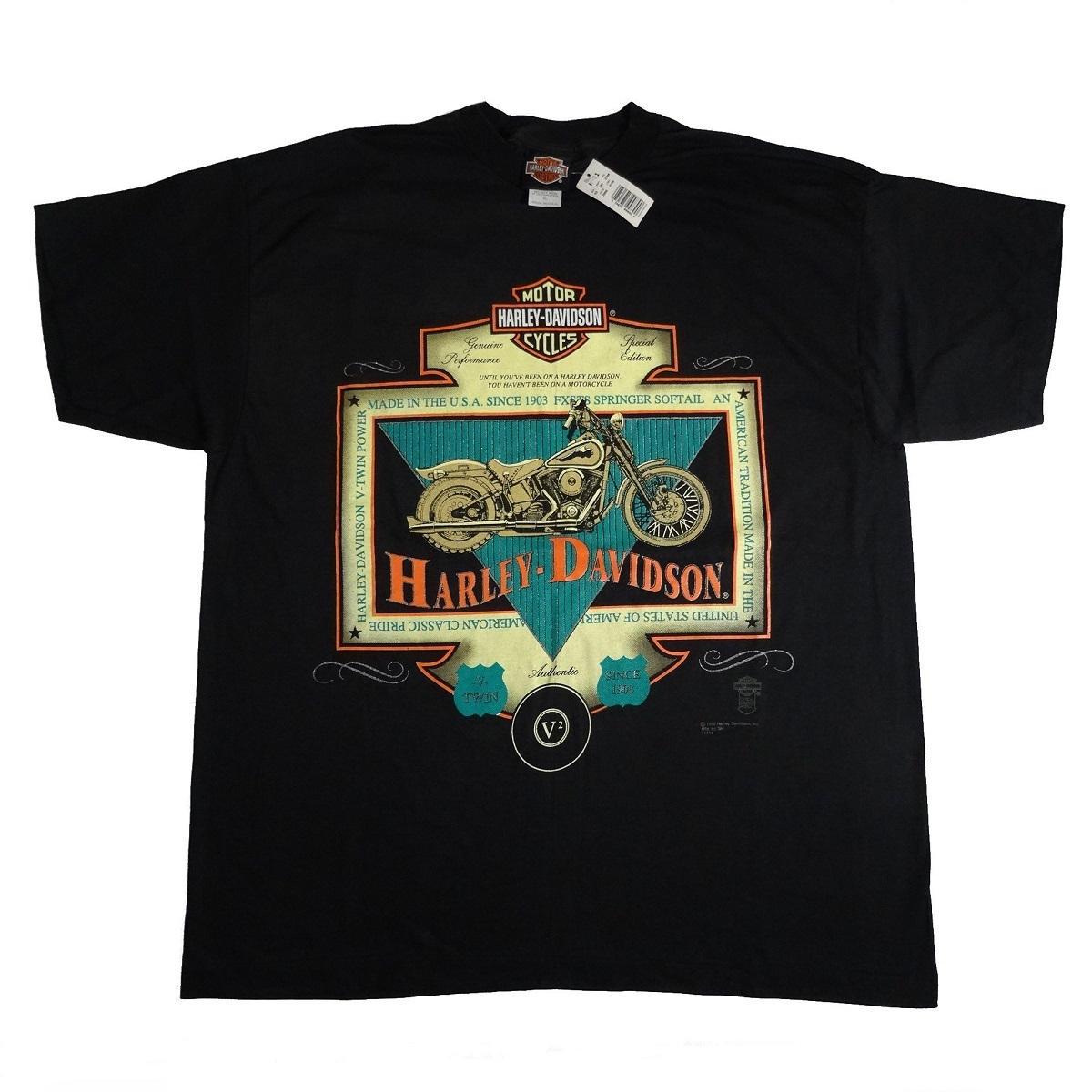 springer softail harley davidson vintage 90s t shirt front of shirt