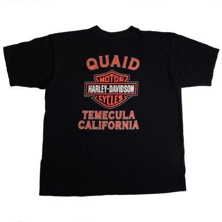 temecula california vintage 90s harley davidson t shirt back of shirt