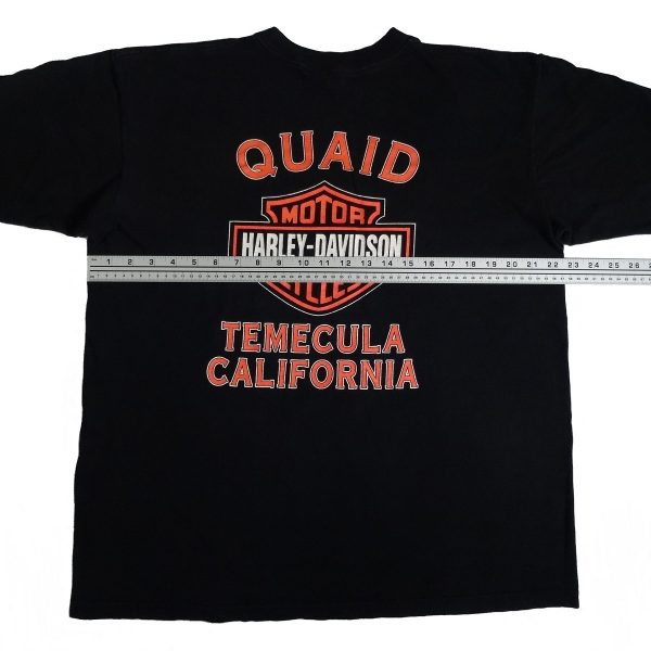 temecula california vintage 90s harley davidson t shirt width measurements