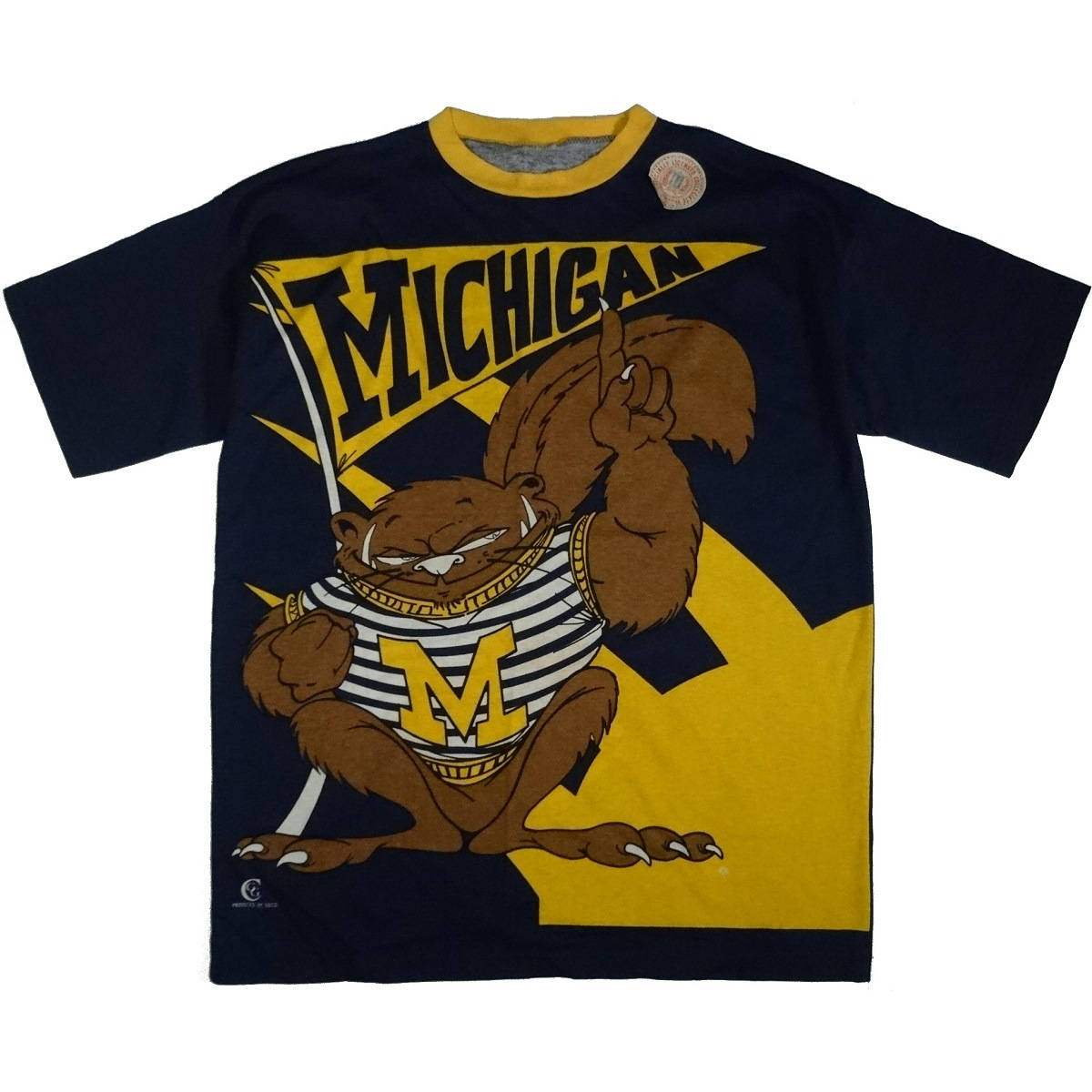 michigan wolverines vintage t shirt front of shirt