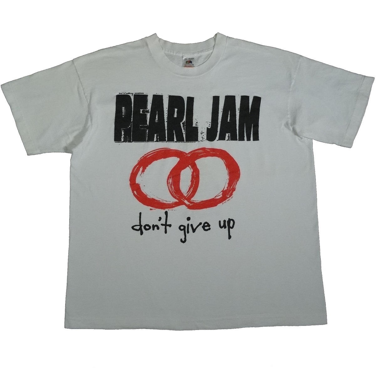 pearl jam dont give up vintage 1992 tour t shirt 90s front of shirt