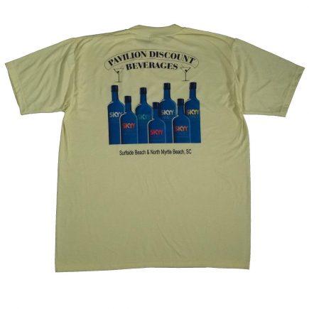 skyy vodka myrtle beach liquor vintage shirt back of shirt