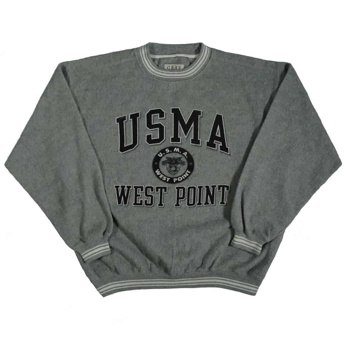 usma west point vintage sweatshirt front of shirt