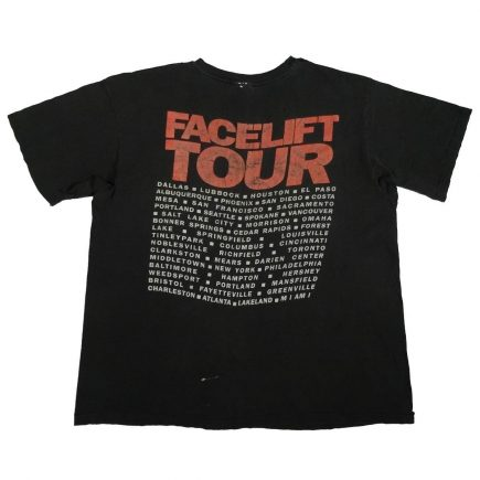 alice in chains facelift tour 1990 vintage shirt back of shirt