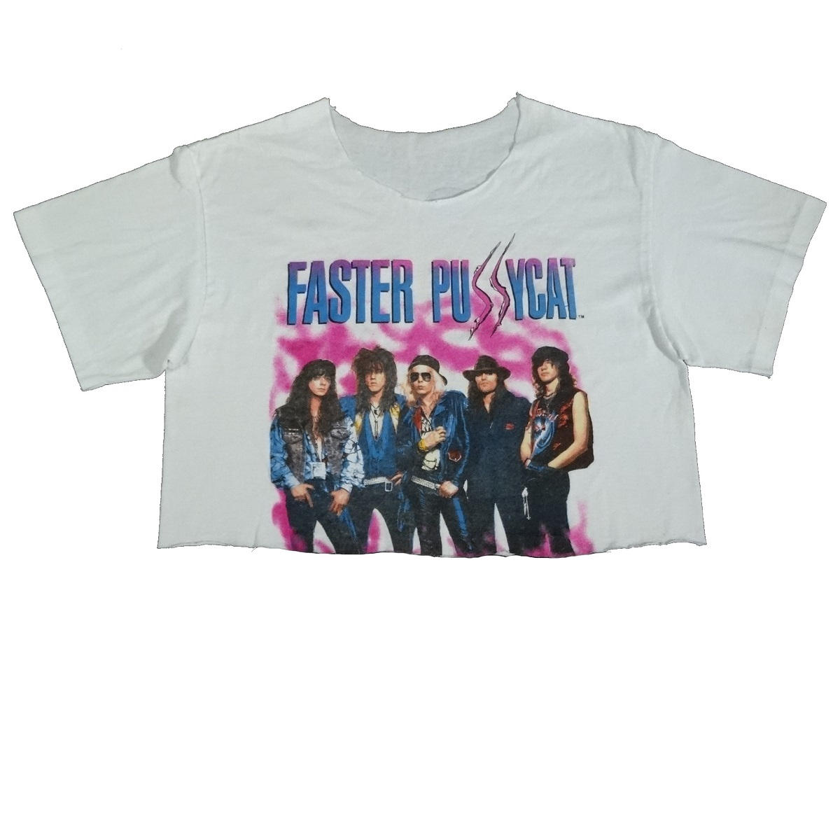 faster pussycat vintage 80s 1988 concert tour shirt front of shirt