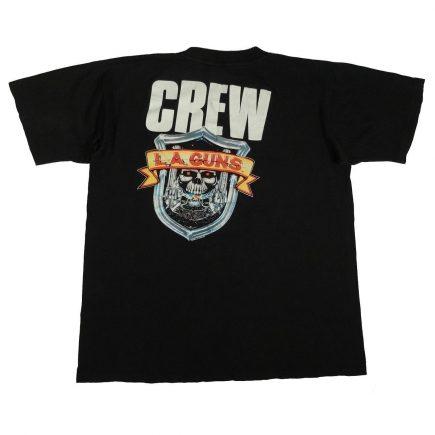 la guns cocked & loaded 1989 vintage 80s t shirt back of shirt
