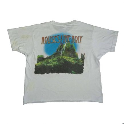 led zeppelin vintage 80s distressed t shirt houses of the holy back