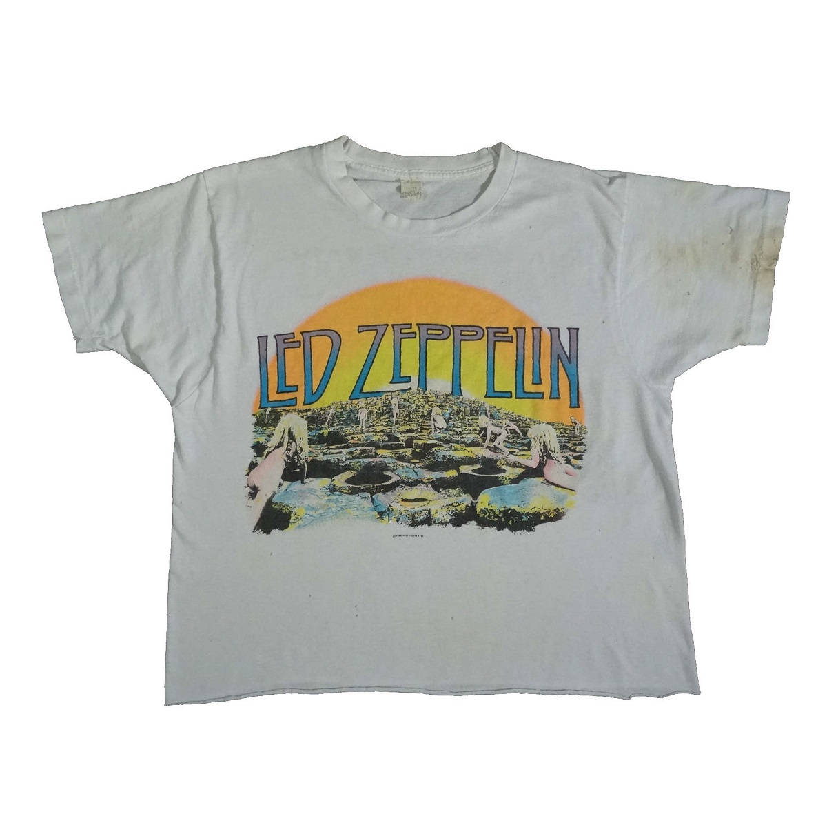 led zeppelin vintage 80s distressed t shirt houses of the holy front