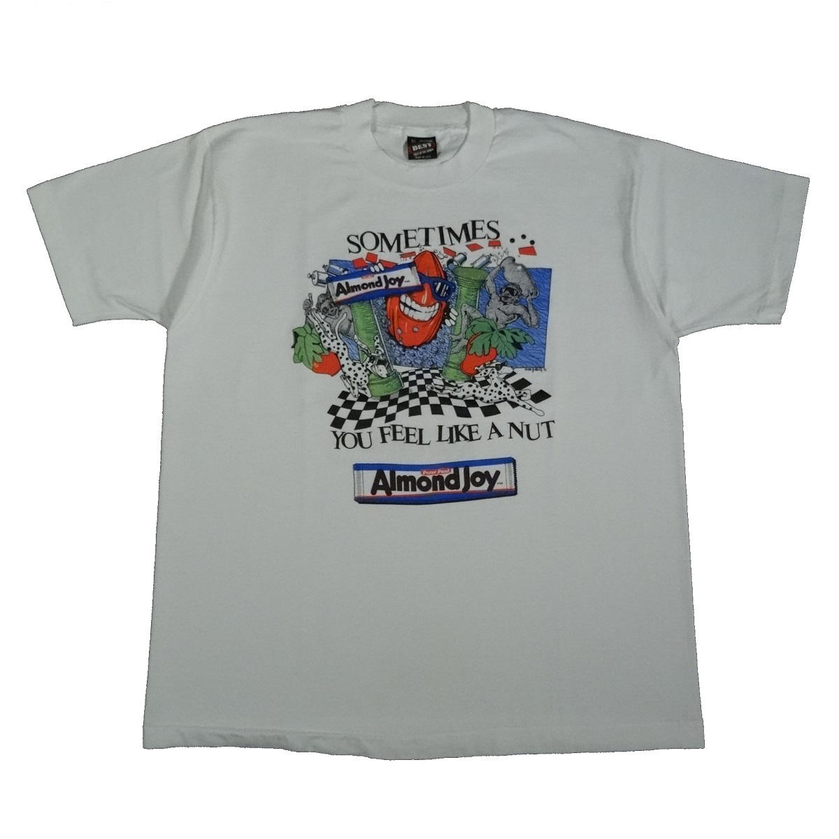 almond joy mounds vintage 90s shirt front