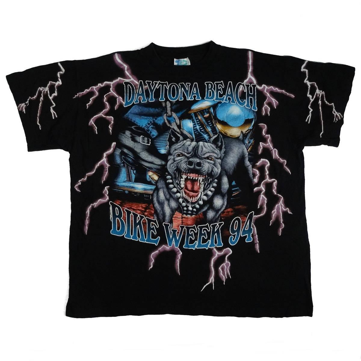 american thunder daytona bike week 94 vintage t shirt front