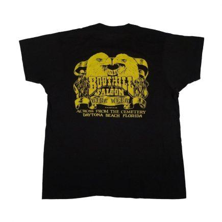 boot hill saloon daytona bike week 1986 vintage t shirt back of shirt
