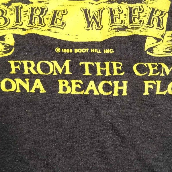 boot hill saloon daytona bike week 1986 vintage t shirt year date