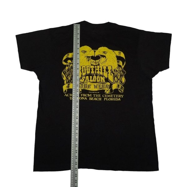 boot hill saloon daytona bike week 1986 vintage t shirt length measurement