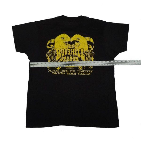 boot hill saloon daytona bike week 1986 vintage t shirt width measurement