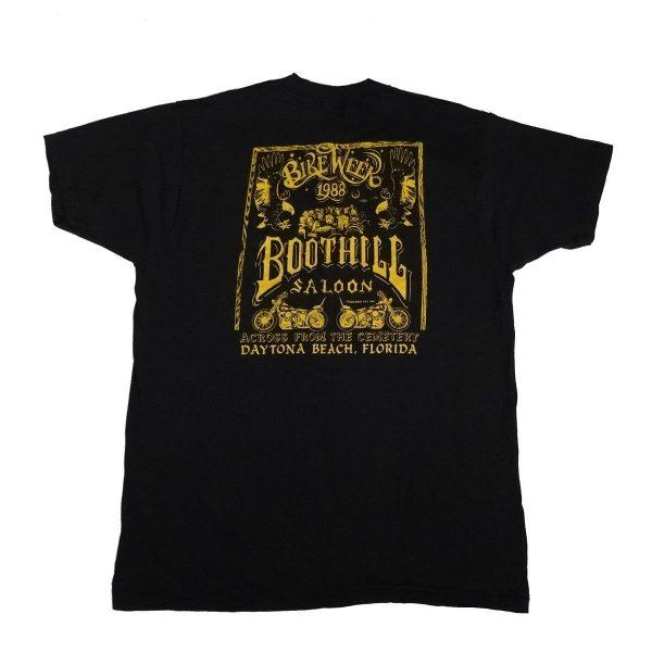 boot hill saloon daytona bike week 1988 vintage t shirt back of shirt
