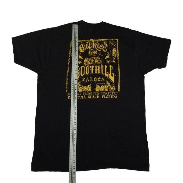 boot hill saloon daytona bike week 1988 vintage t shirt length measurement