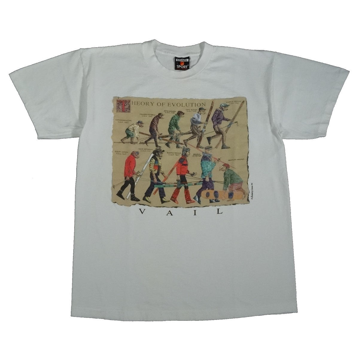 vail colorado ski snowboard vintage t shirt front of shirt