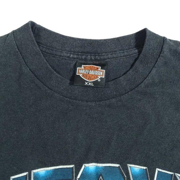 valparaiso indiana heavy metal harley davidson vintage 90s t shirt collar size tag