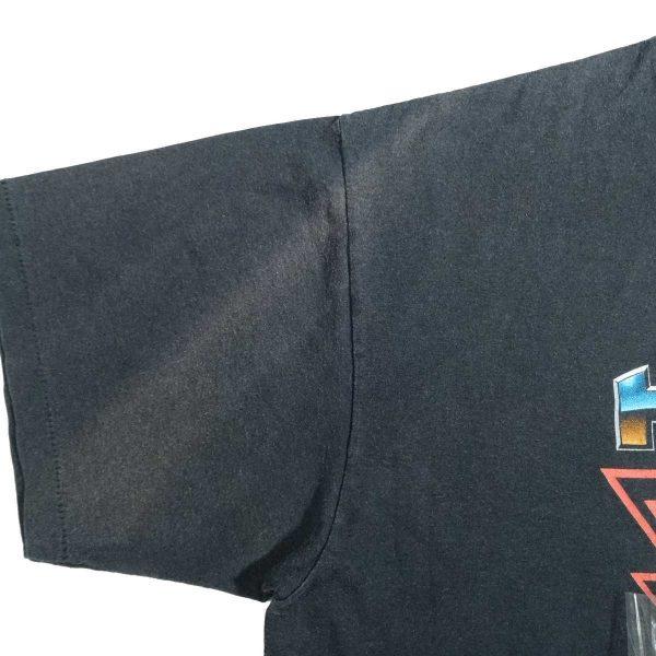 valparaiso indiana heavy metal harley davidson vintage 90s t shirt fade marks front right sleeve