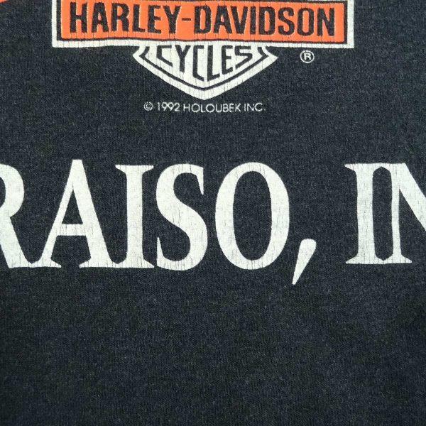 valparaiso indiana heavy metal harley davidson vintage 90s t shirt date year