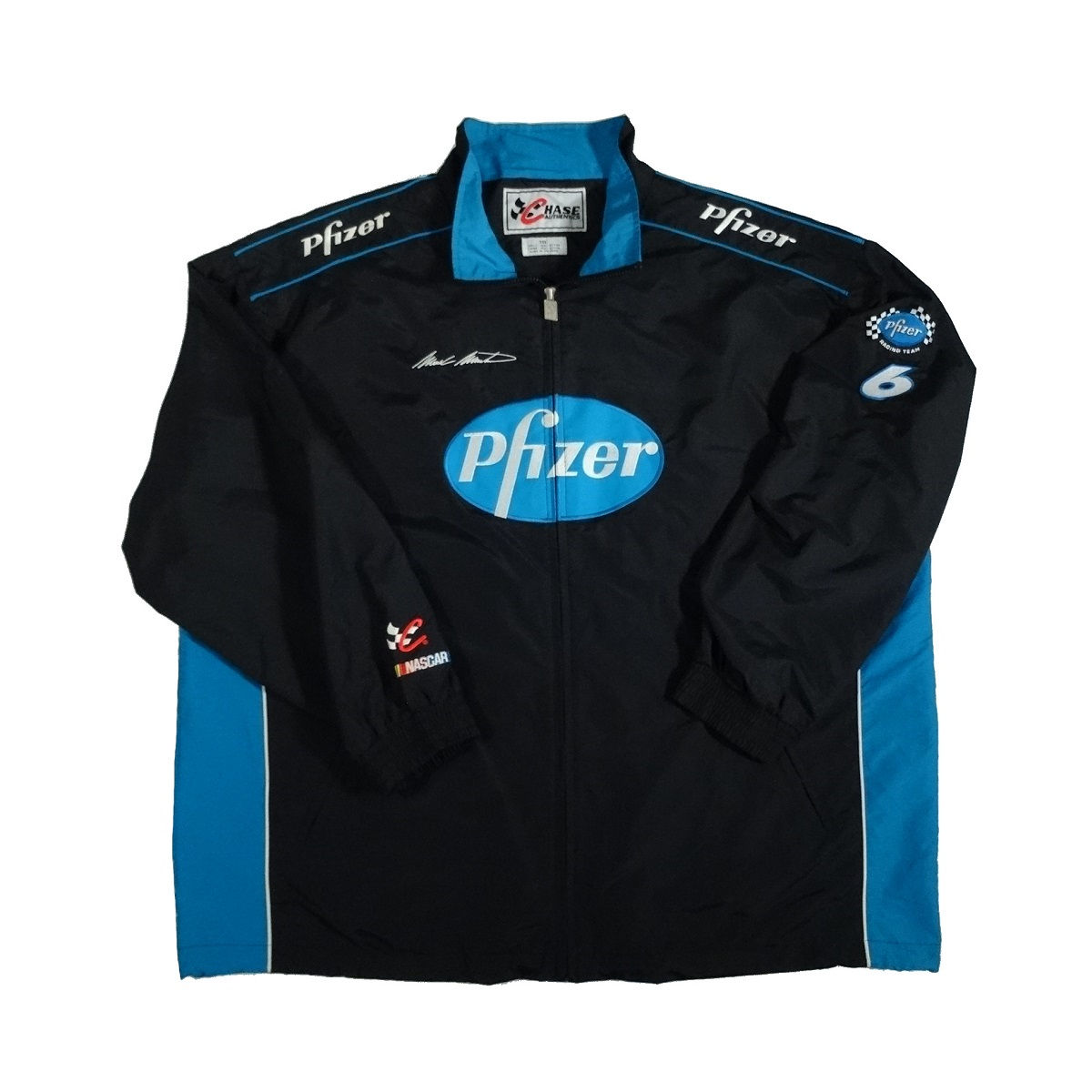 mark martin pfizer racing nascar jacket front