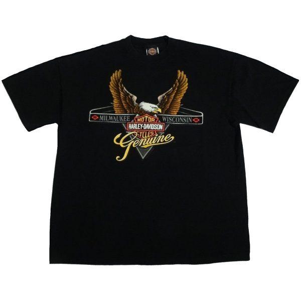 new haven ct harley davidson vintage 90s t shirt front