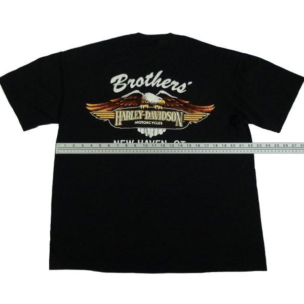 new haven ct harley davidson vintage 90s t shirt width measurement