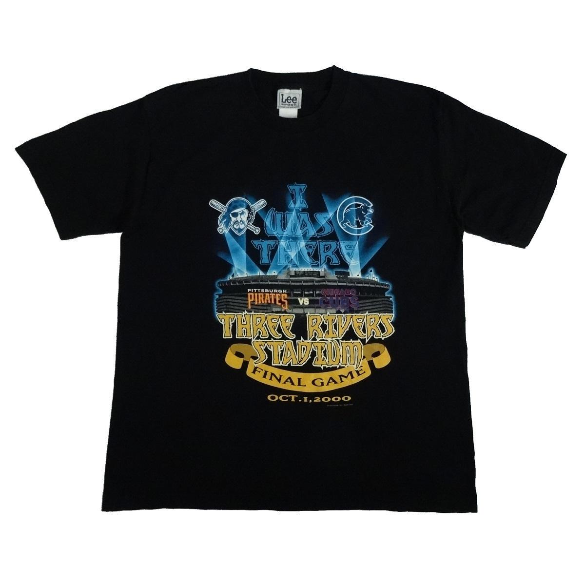 three rivers stadium pirates last game t shirt front