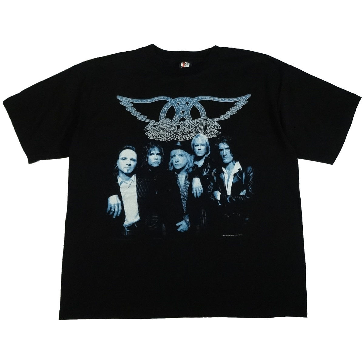 aerosmith nine lives tour vintage 90s concert t shirt front