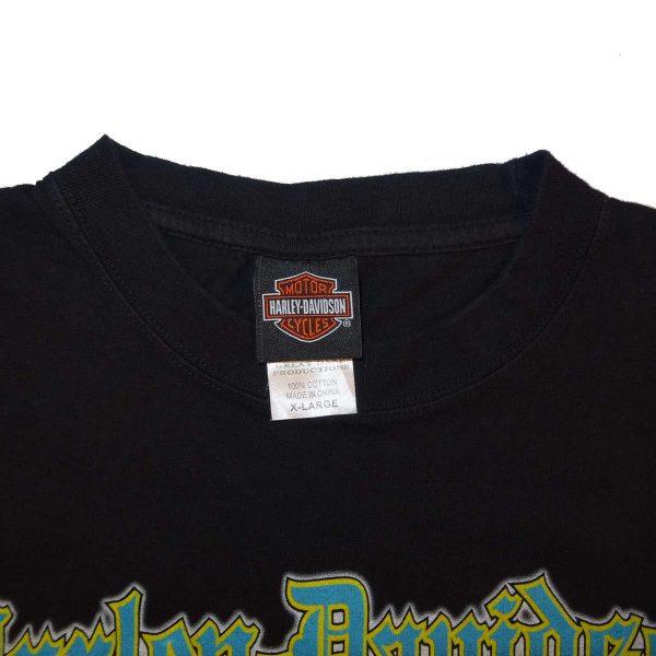 bahamas harley davidson t shirt collar size tag