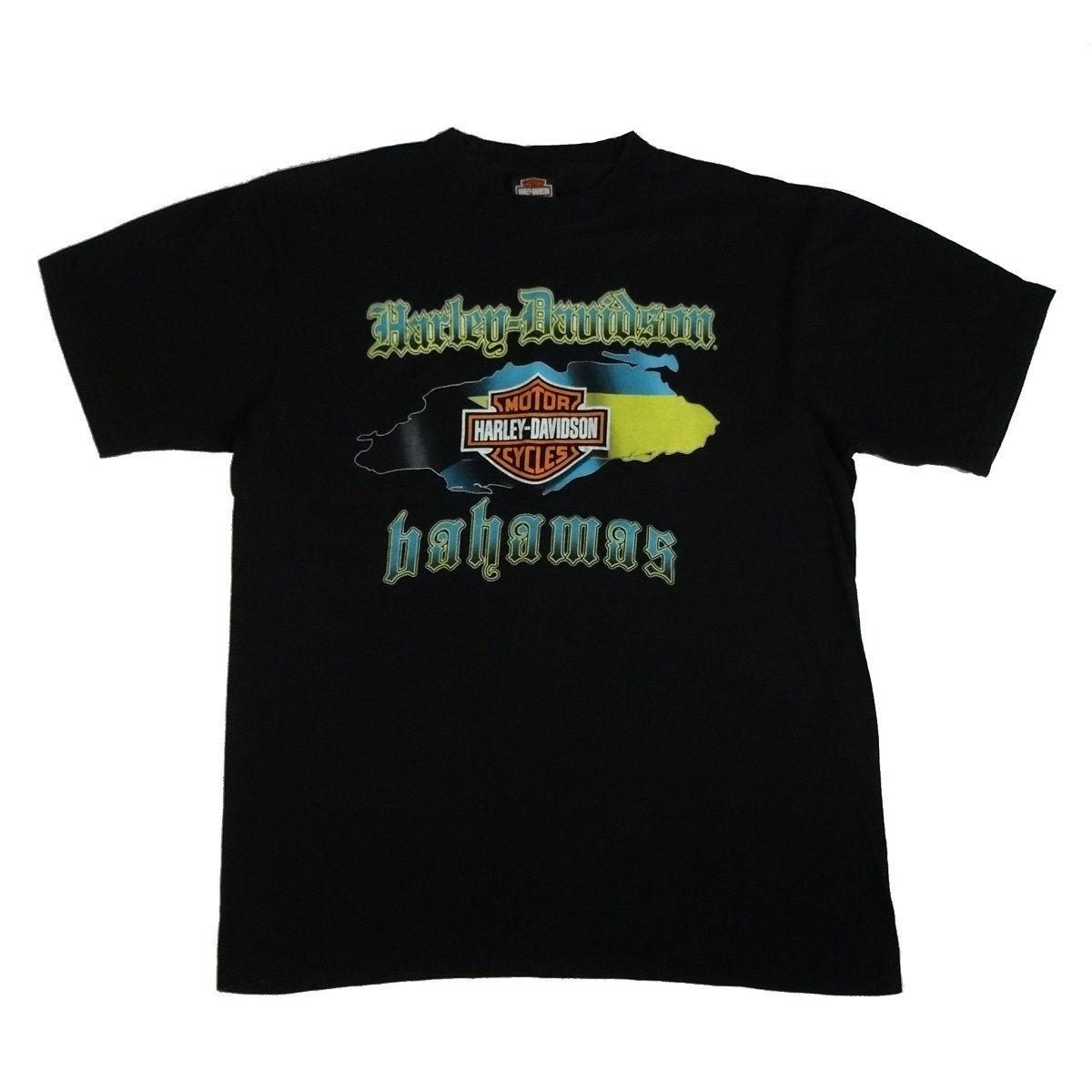 bahamas harley davidson t shirt front