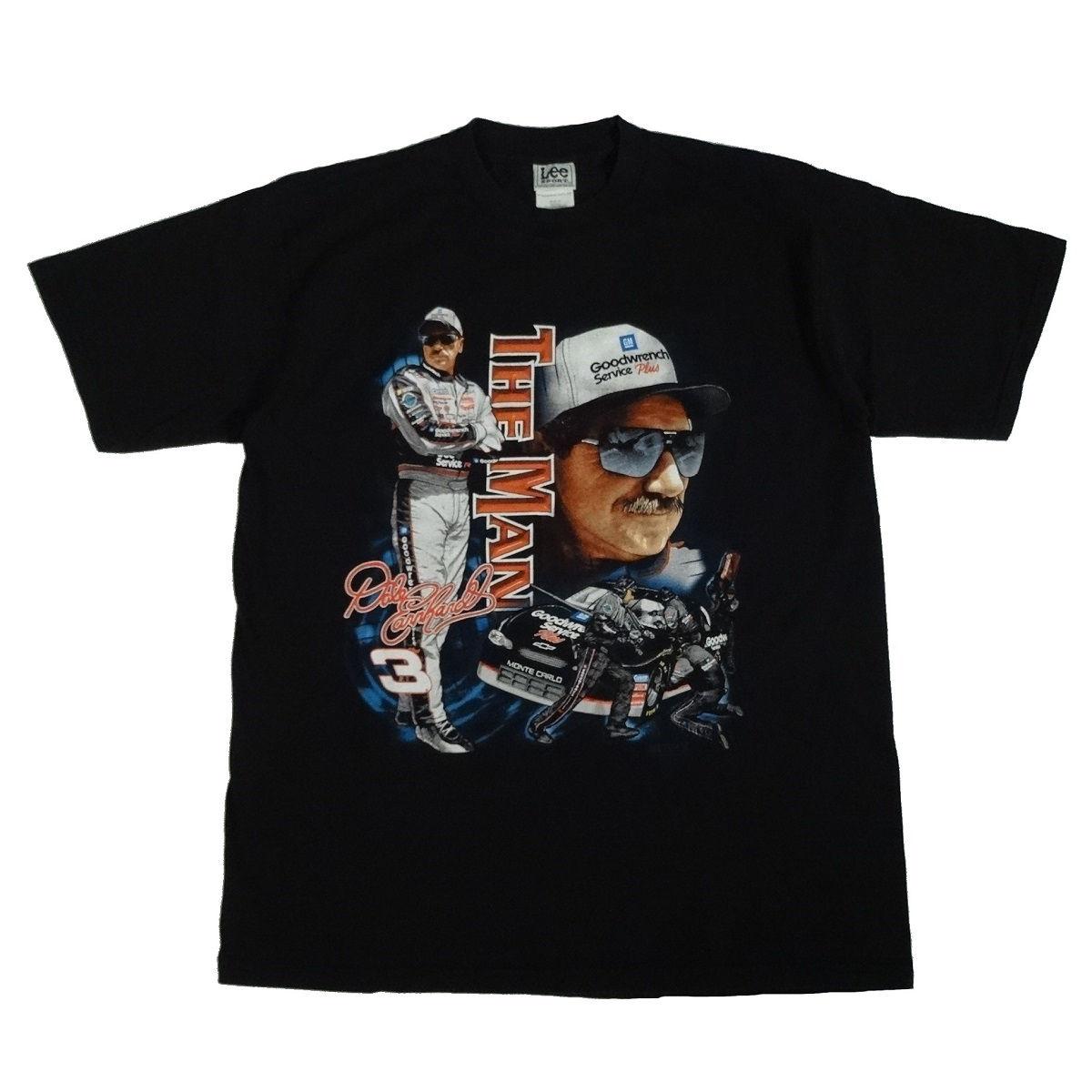 dale earnhardt the man vintage 2001 t shirt front