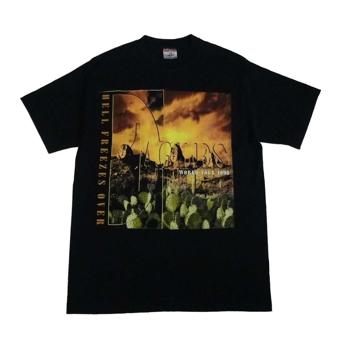 eagles hell freezes over vintage 90s concert t shirt front