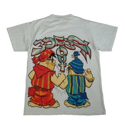 flintstones fred barney t shirt vintage 90s peace out back