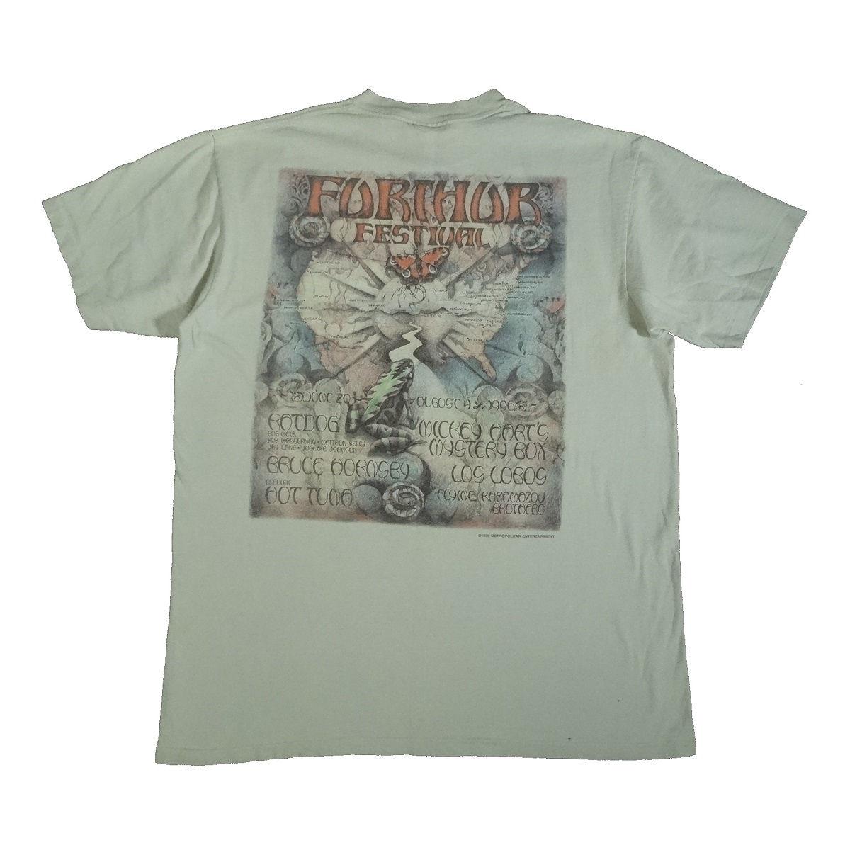 furthur festival 1996 t shirt grateful dead back